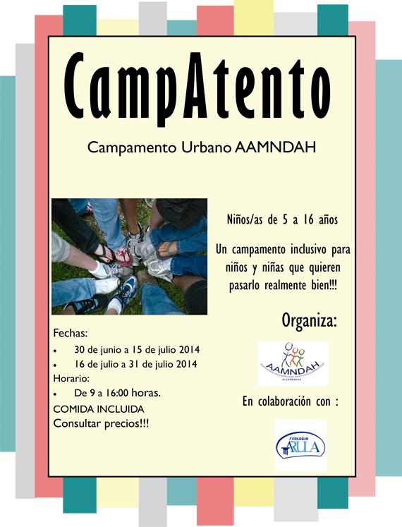 CampAtento: Campamento Urbano organizado por AAMNDAH Alcobendas