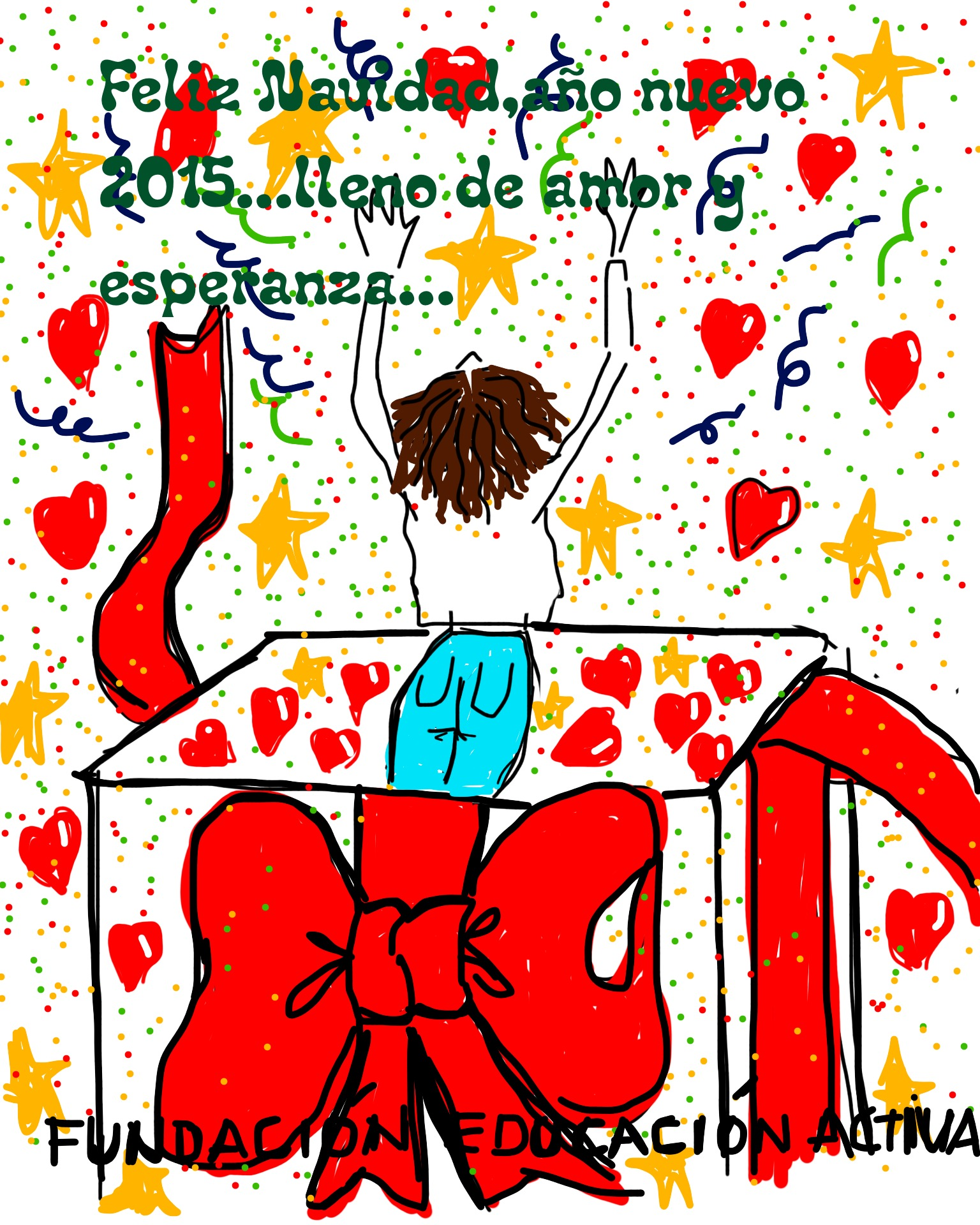 Fundación Educación Activa os desea una Feliz Navidad y un 2015 lleno de amor y esperanza
