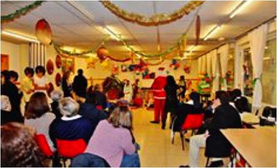 La fiesta de Navidad en la Residencia Hogar Villa Paz