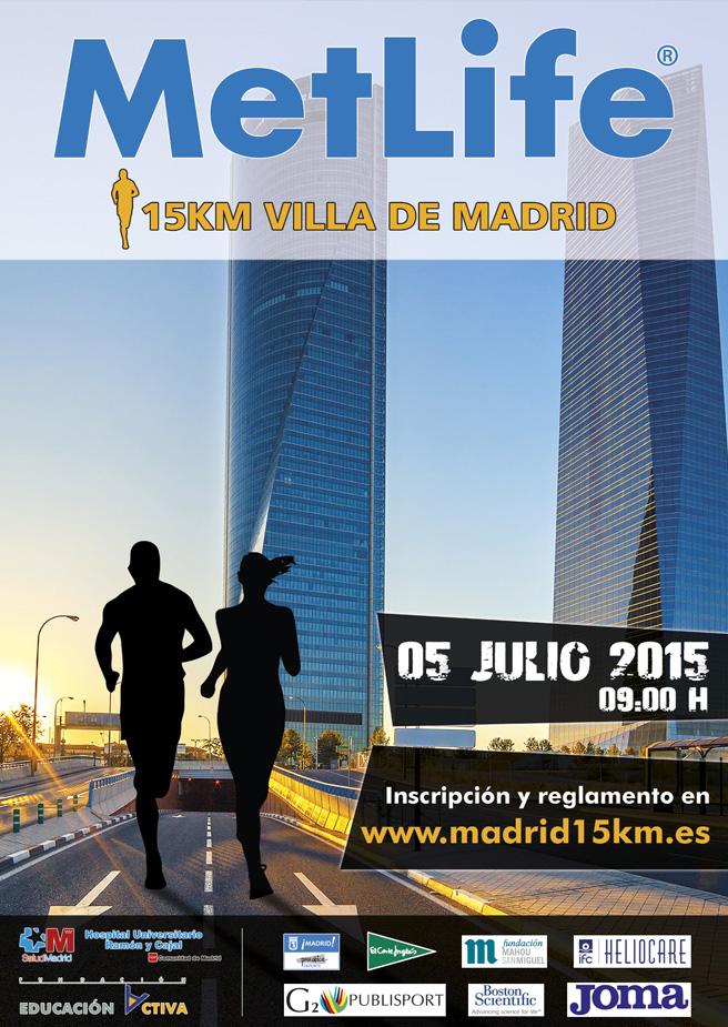 Primera edición de la carrera popular 'MetLife 15 Km Villa de Madrid'