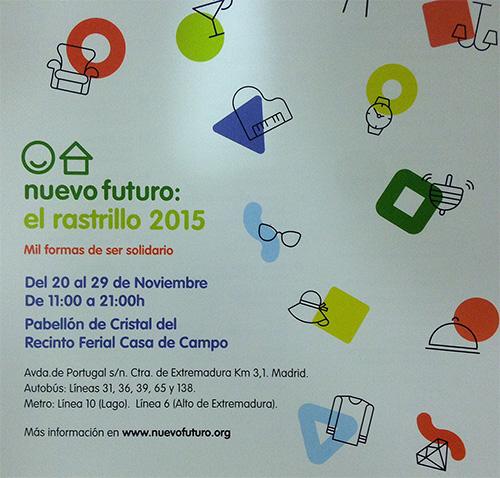 Fundación Educación Activa participará en el Rastrillo Nuevo Futuro 2015