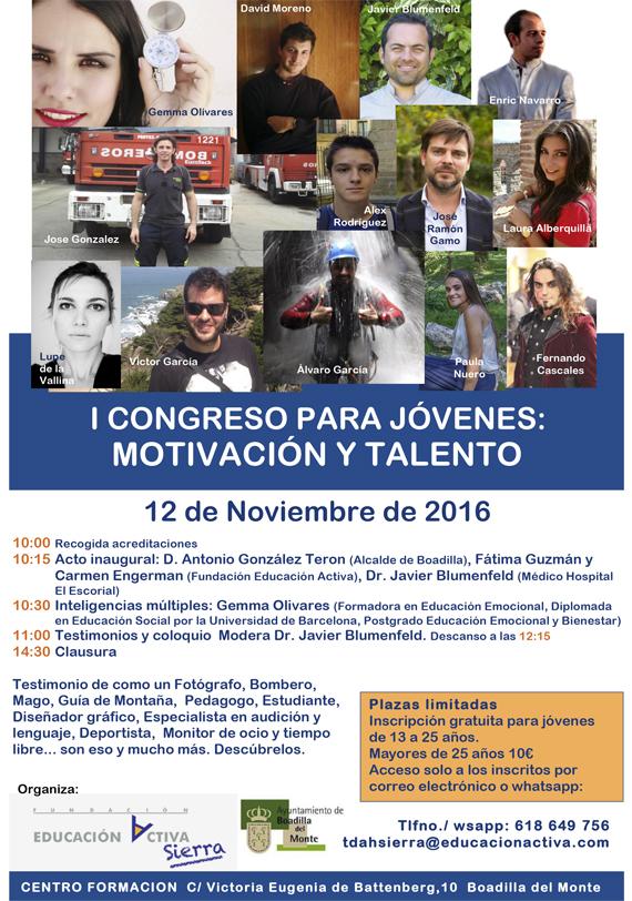 I congreso para jóvenes: motivación y talento