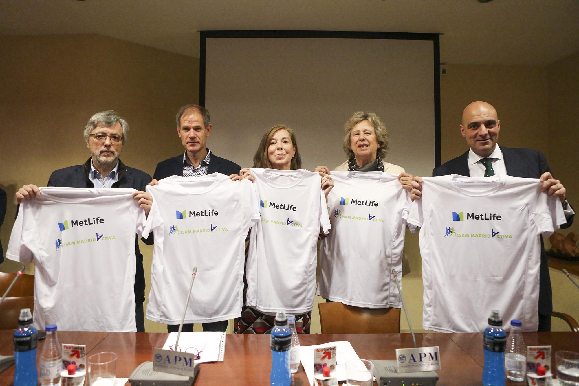 Presentación III edición 15 Km MetLife Madrid Activa