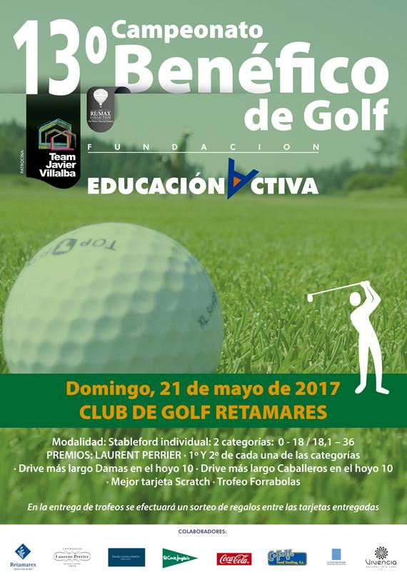 TEAM JAVIER VILLALBA REMAX patrocina el 13º Campeonato Benéfico de Golf